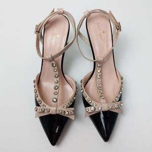 Kate Spade Julianna Patent Leather Studded Heels
